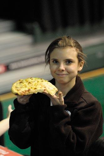Megan wins a Pizza!